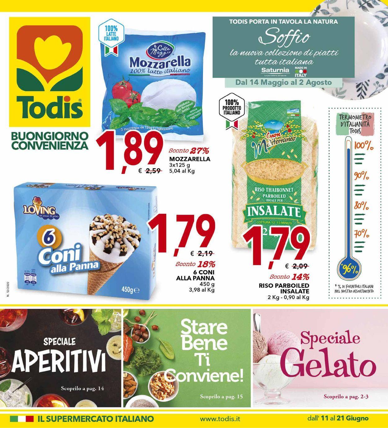 Volantino Todis - Offerte 11/06-21/06/2020
