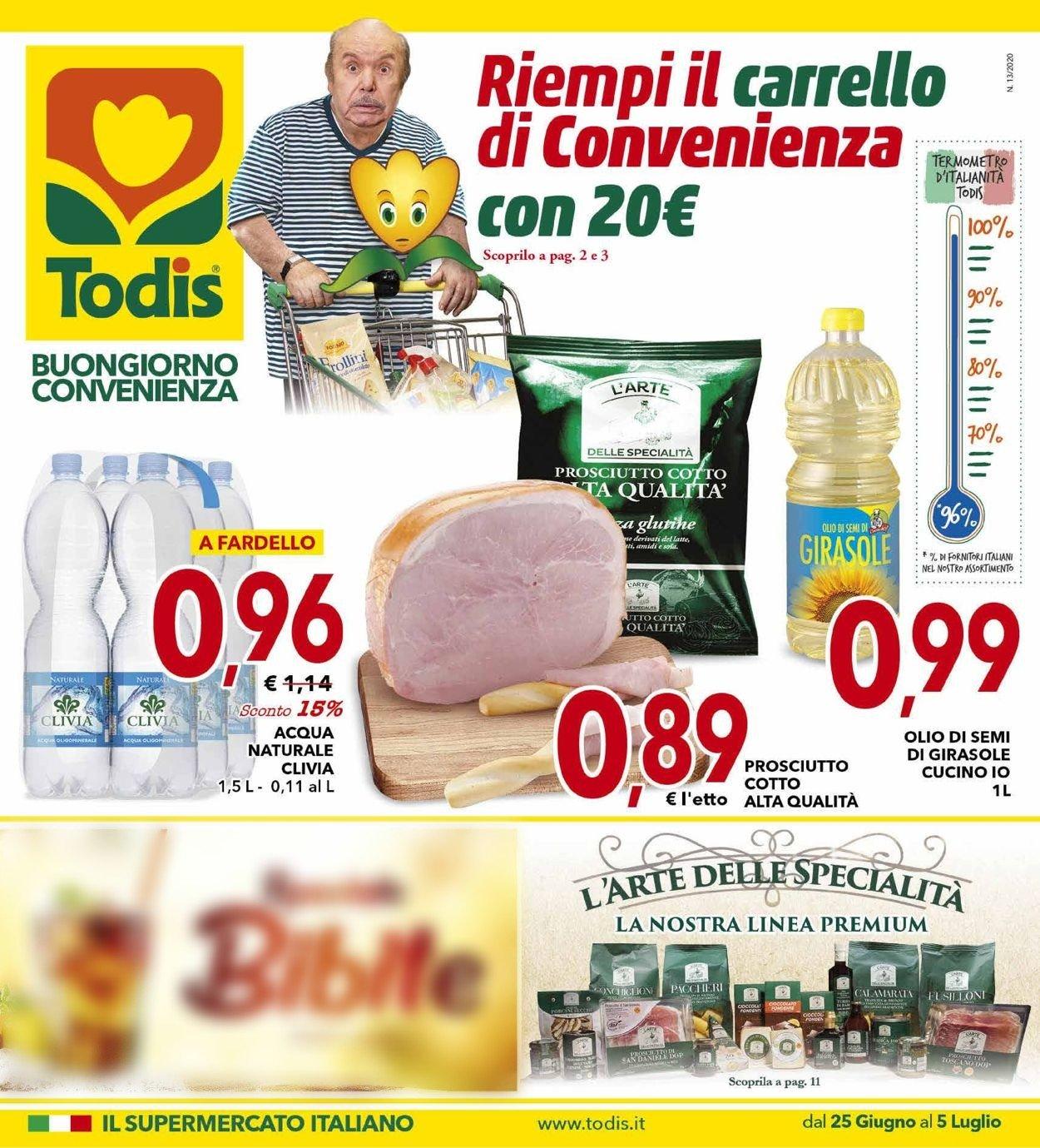 Volantino Todis - Offerte 25/06-05/07/2020
