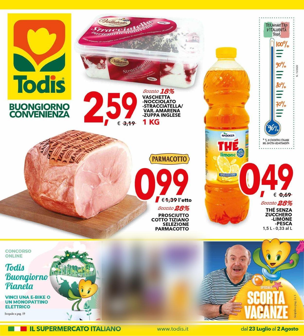 Volantino Todis - Offerte 23/07-02/08/2020