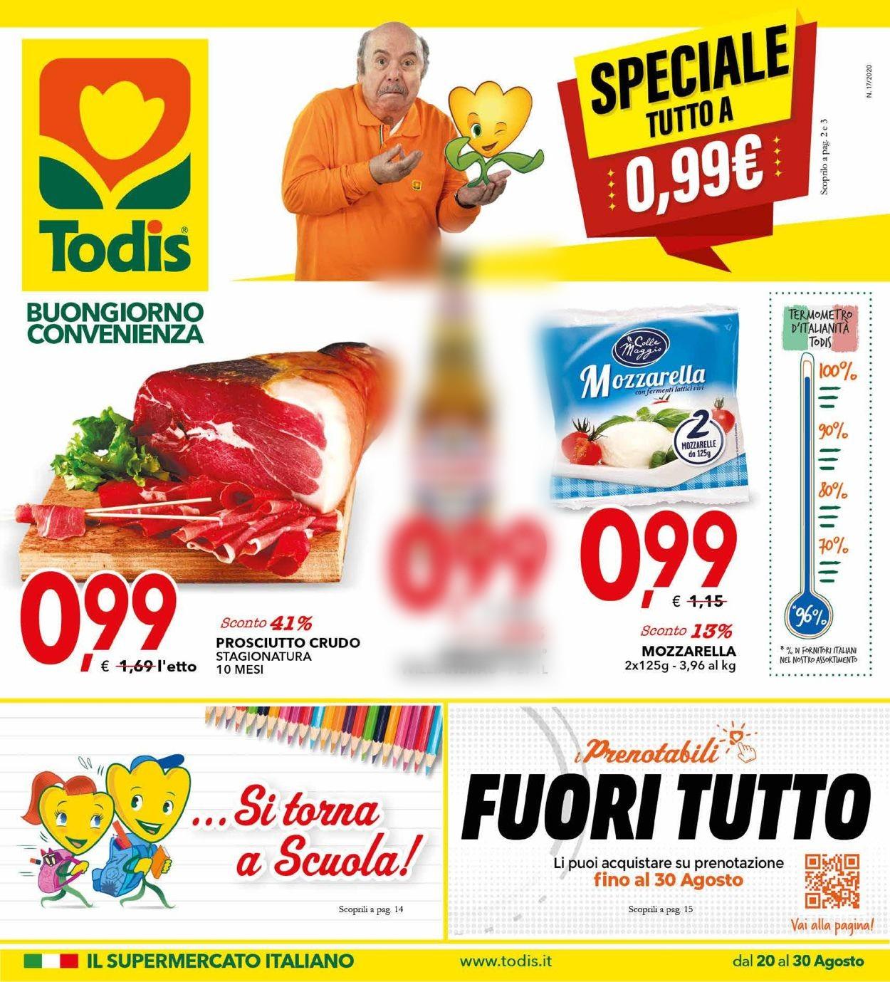 Volantino Todis - Offerte 20/08-30/08/2020