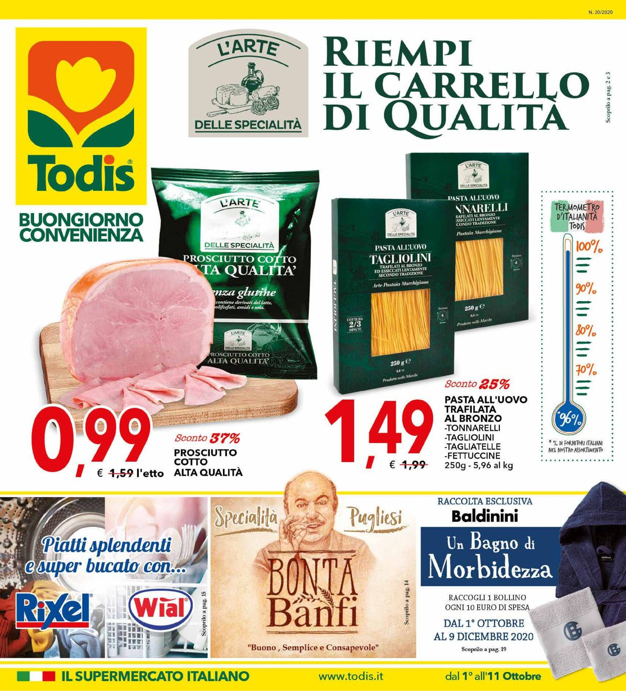 Volantino Todis - Offerte 01/10-11/10/2020