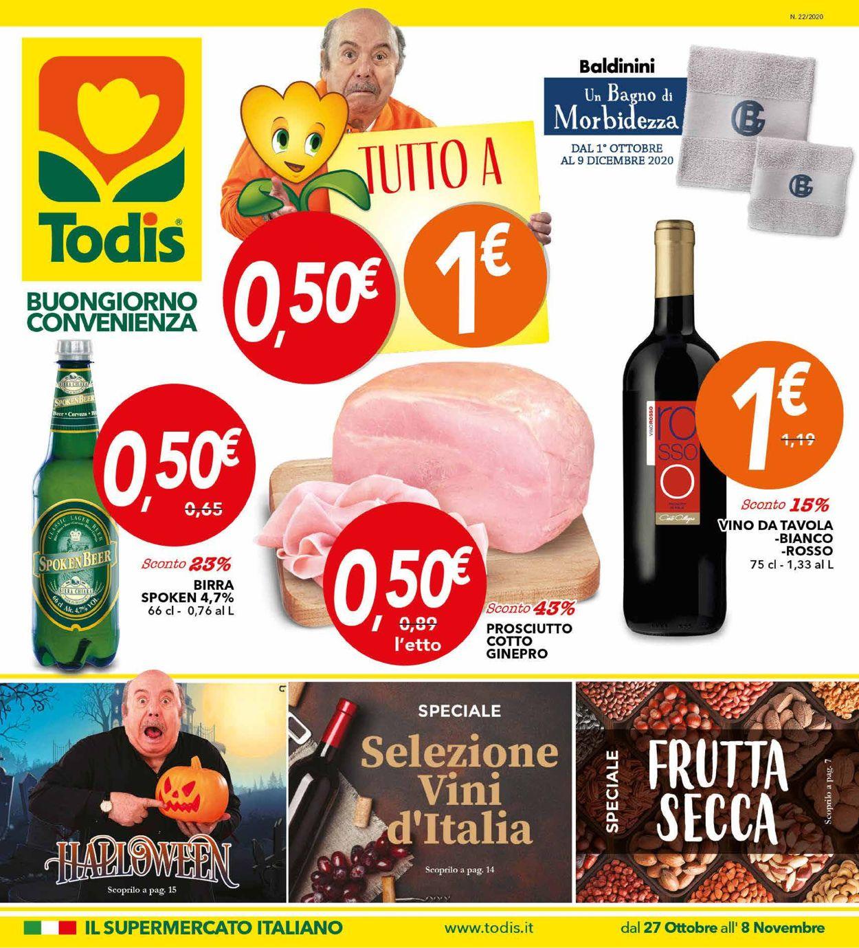 Volantino Todis - Offerte 27/10-08/11/2020