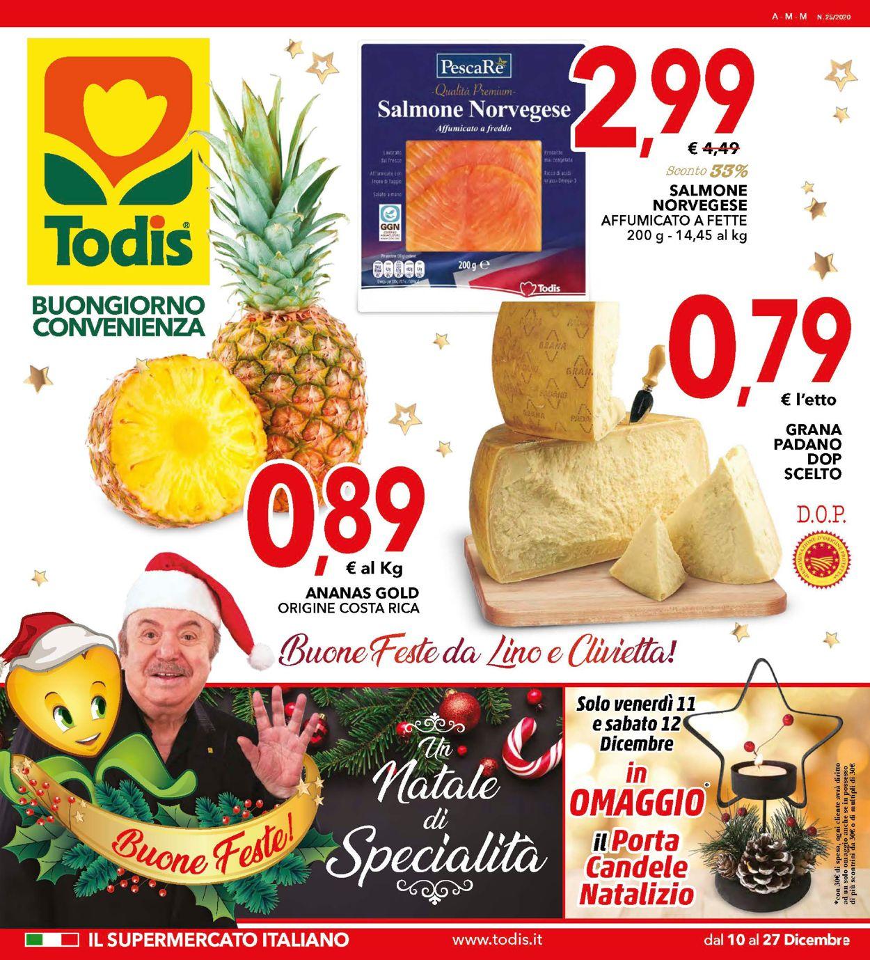 Volantino Todis - Natale 2020 - Offerte 10/12-27/12/2020