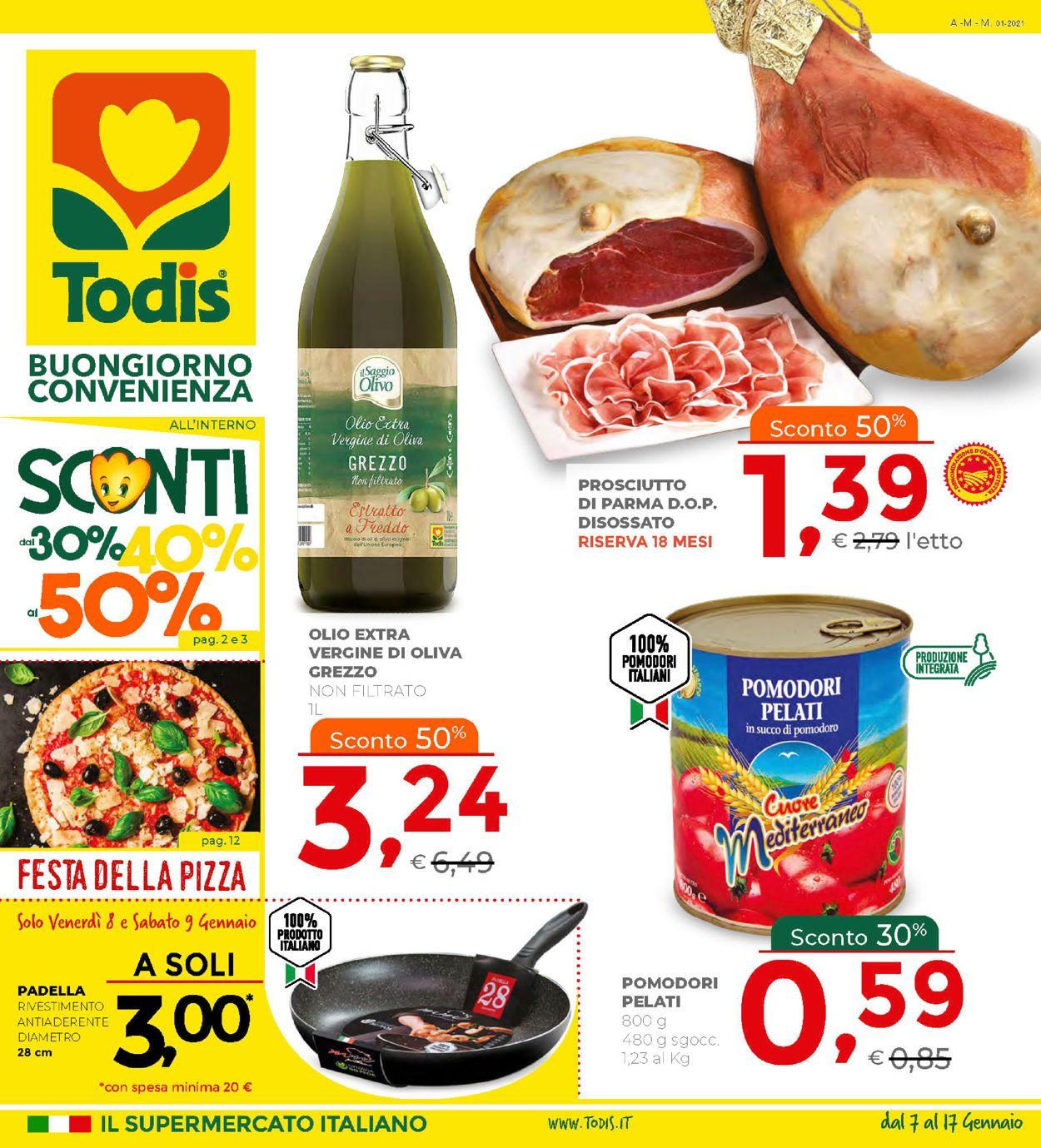 Volantino Todis - Offerte 07/01-17/01/2021