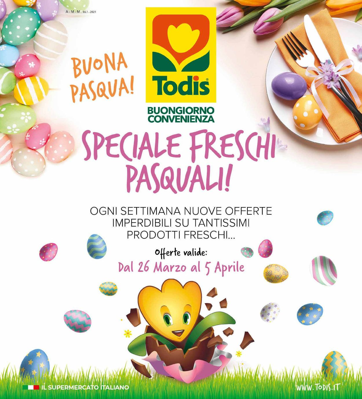 Volantino Todis - Pasqua 2021! - Offerte 26/03-05/04/2021