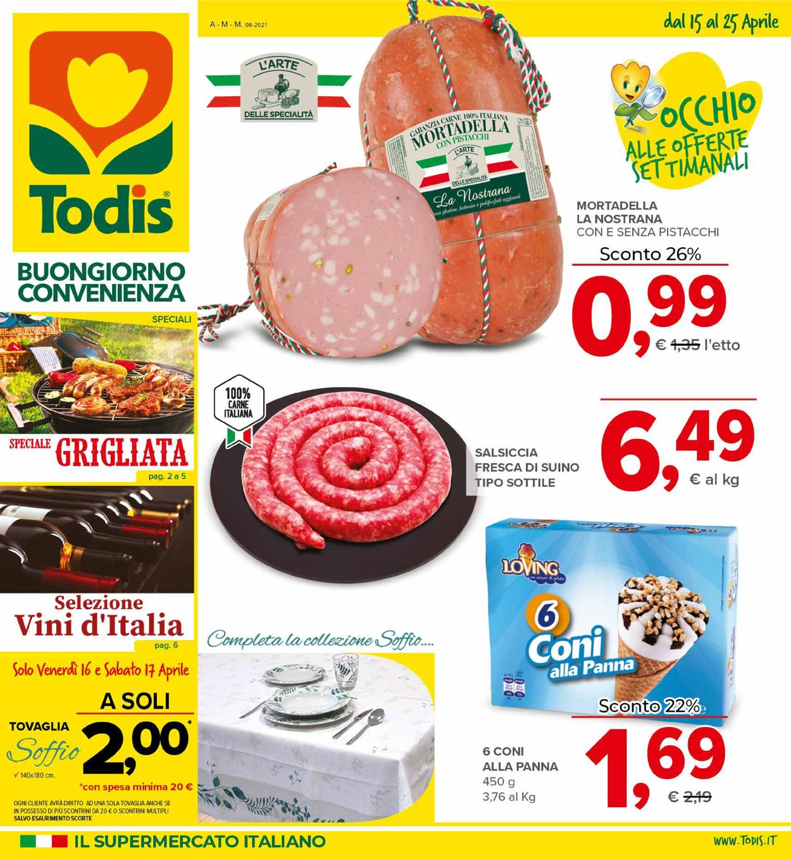 Volantino Todis - Offerte 15/04-25/04/2021