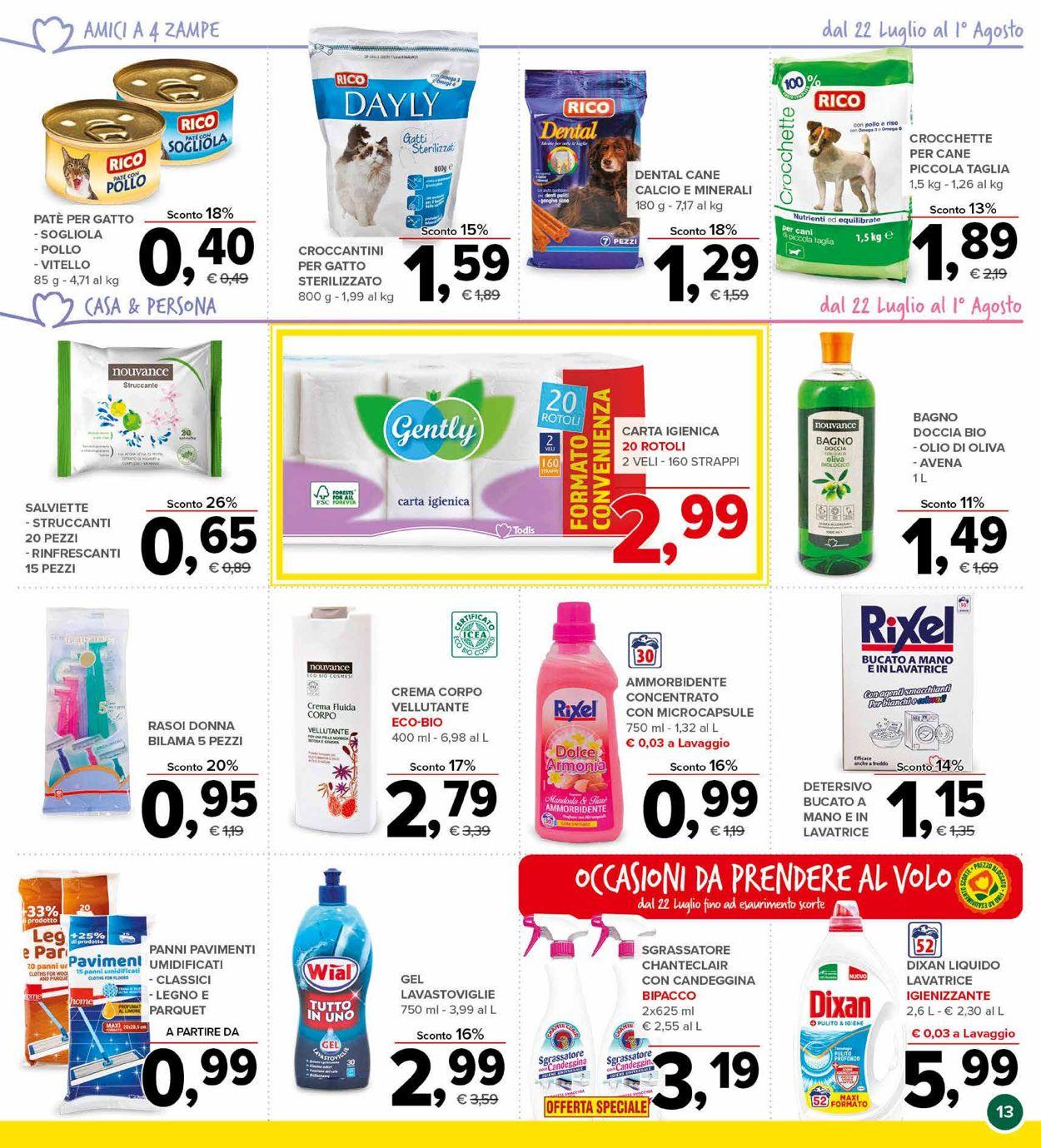 Volantino Todis - Offerte 22/07-01/08/2021 (Pagina 13)