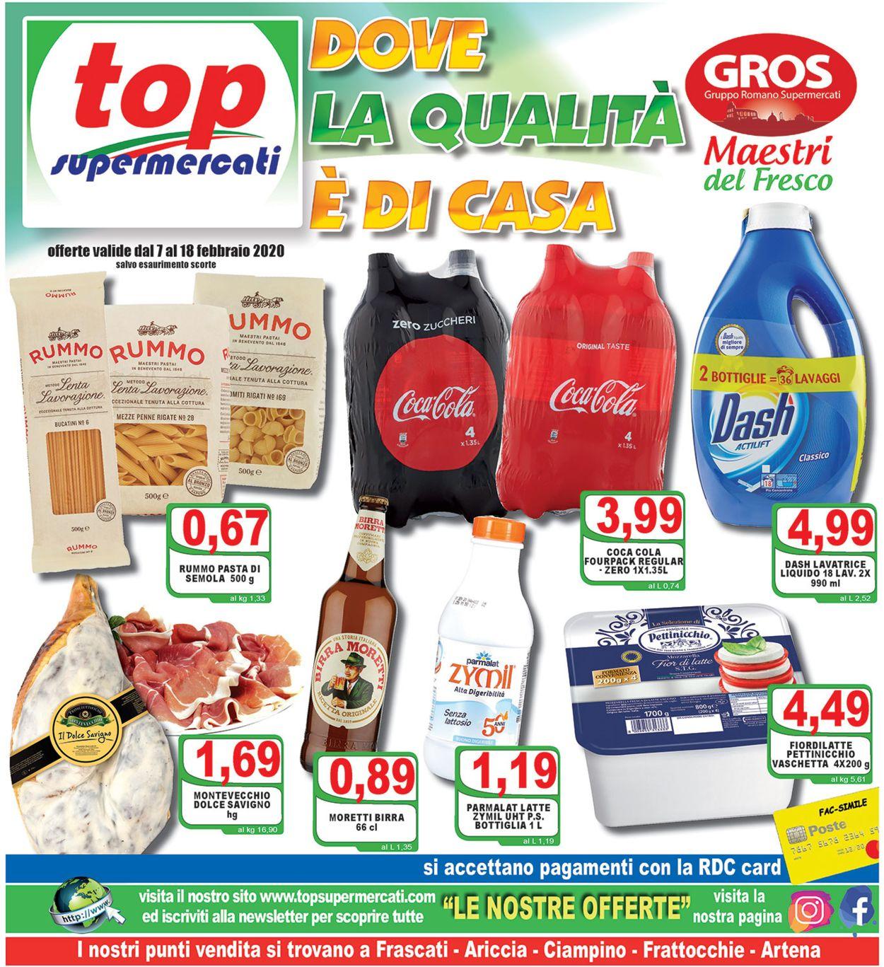 Volantino Top Supermercati - Offerte 07/02-18/02/2020