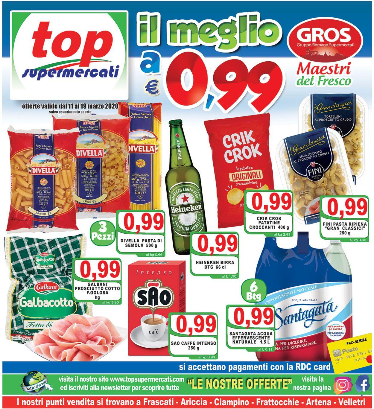 Volantino Top Supermercati - Offerte 11/03-19/03/2020