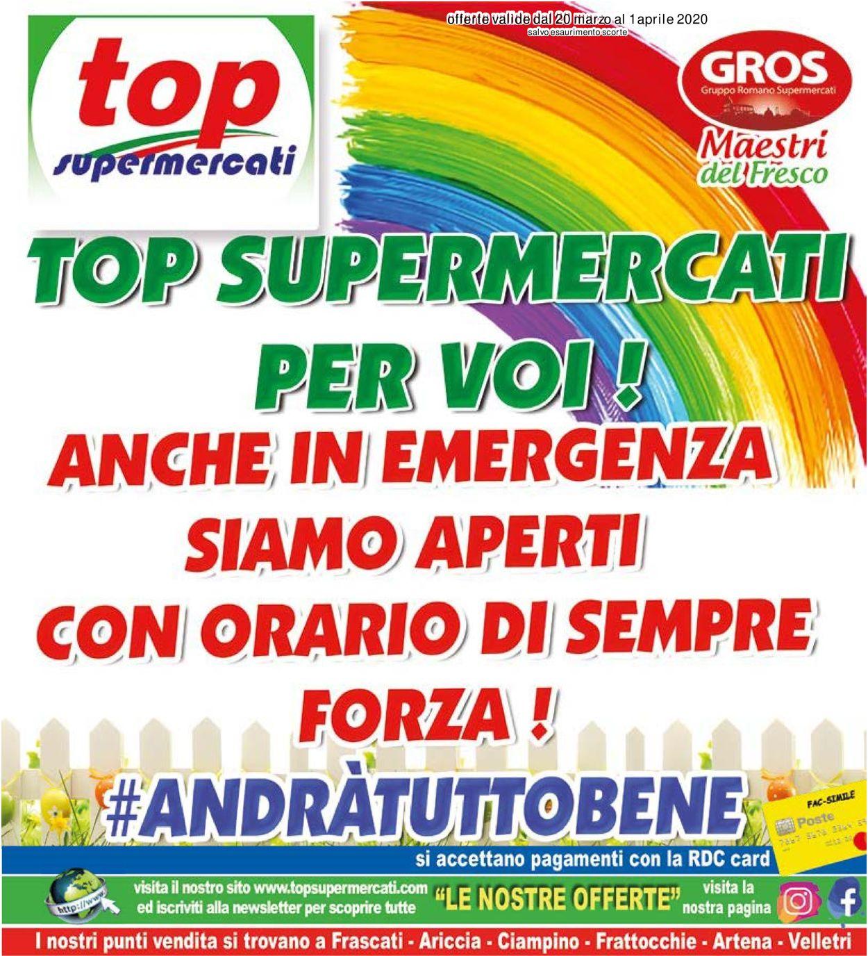 Volantino Top Supermercati - Offerte 20/03-01/04/2020