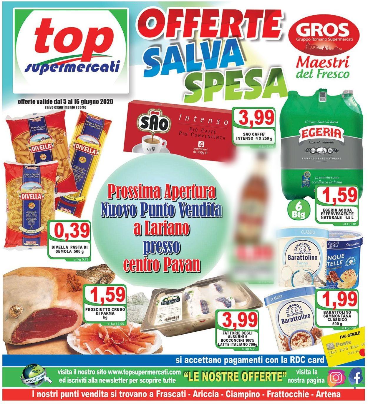 Volantino Top Supermercati - Offerte 05/06-16/06/2020