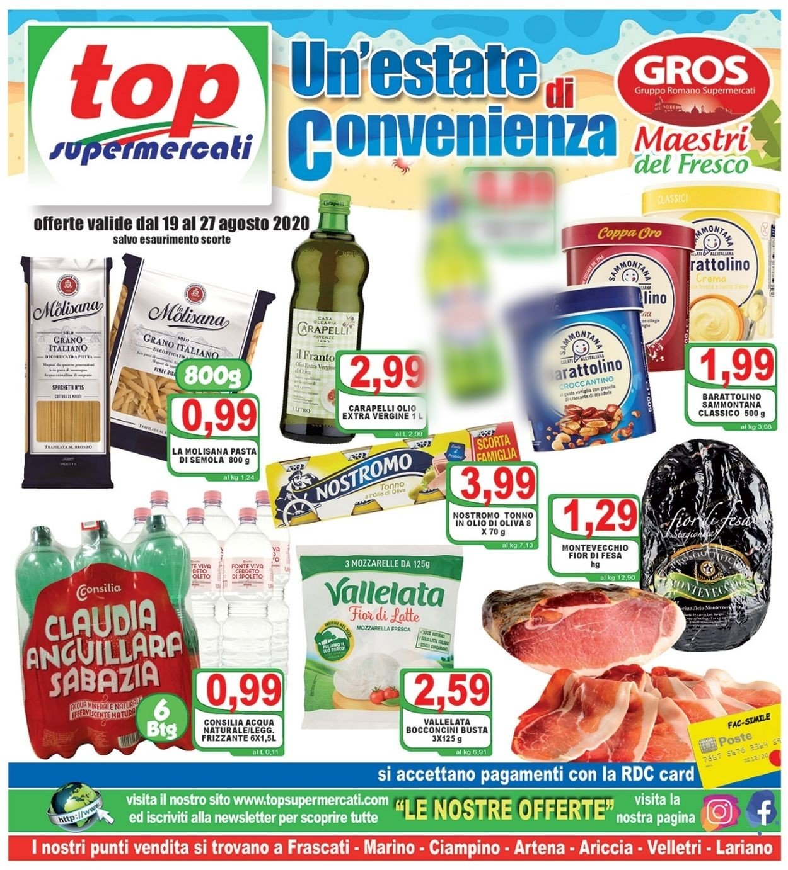 Volantino Top Supermercati - Offerte 19/08-27/08/2020