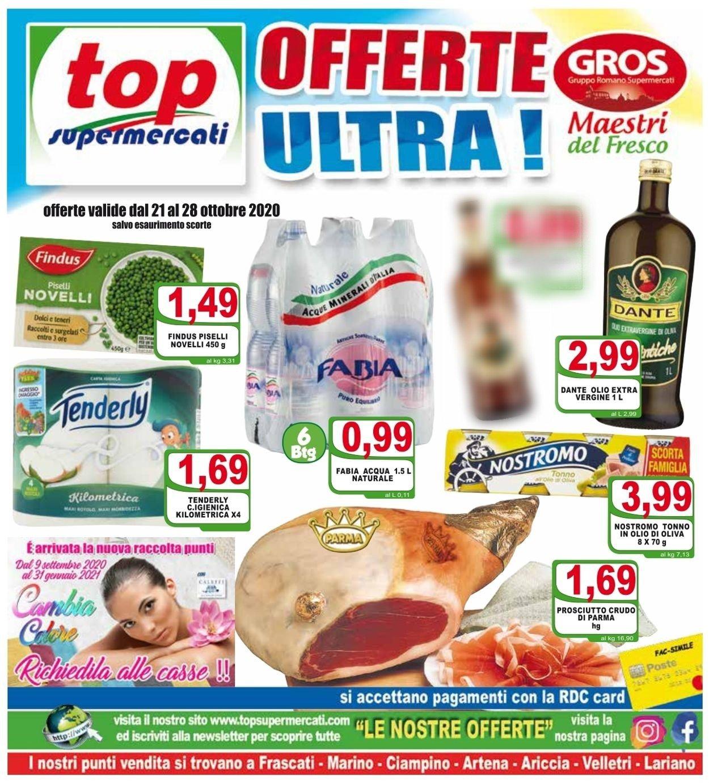 Volantino Top Supermercati - Offerte 21/10-28/10/2020