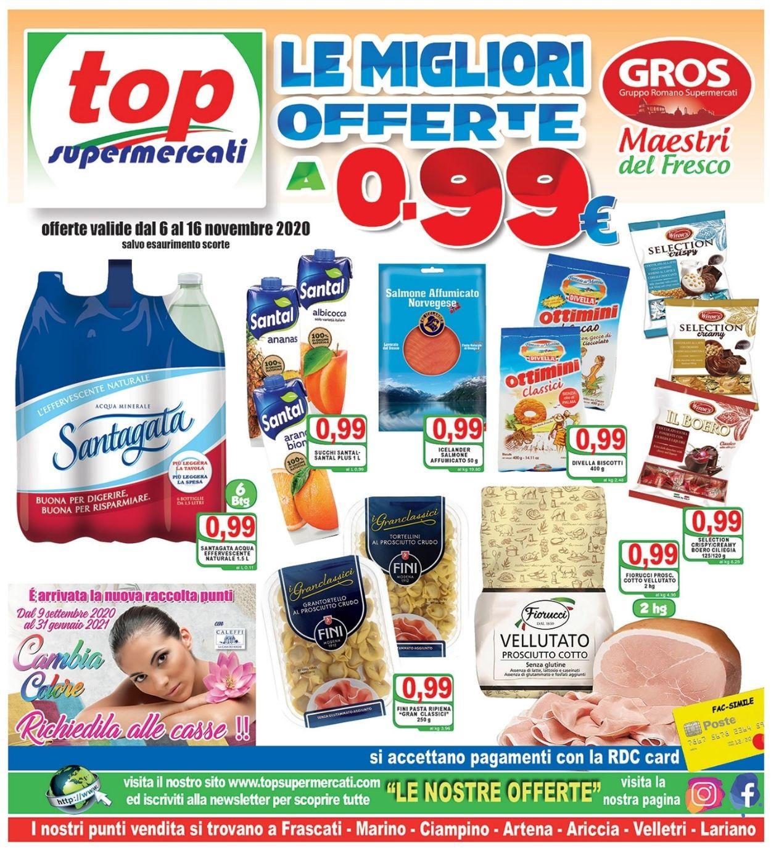 Volantino Top Supermercati - Offerte 06/11-16/11/2020