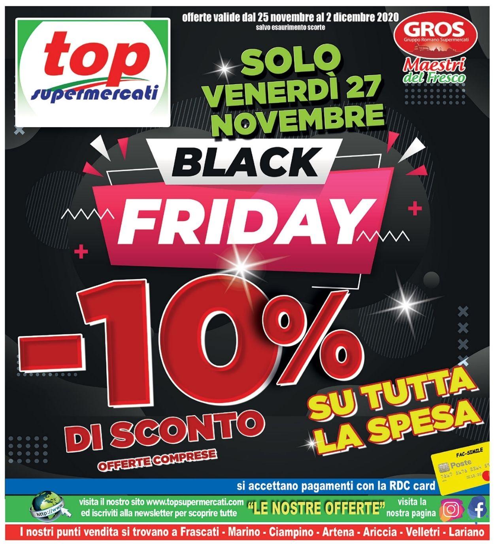 Volantino Top Supermercati - Black Friday 2020 - Offerte 25/11-02/12/2020