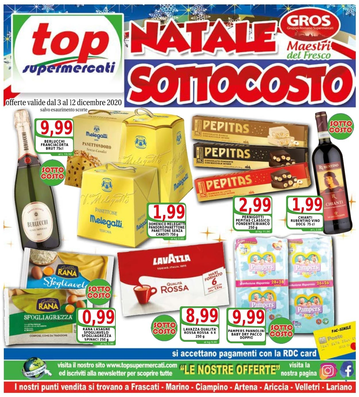 Volantino Top Supermercati - Natale 2020 - Offerte 03/12-12/12/2020