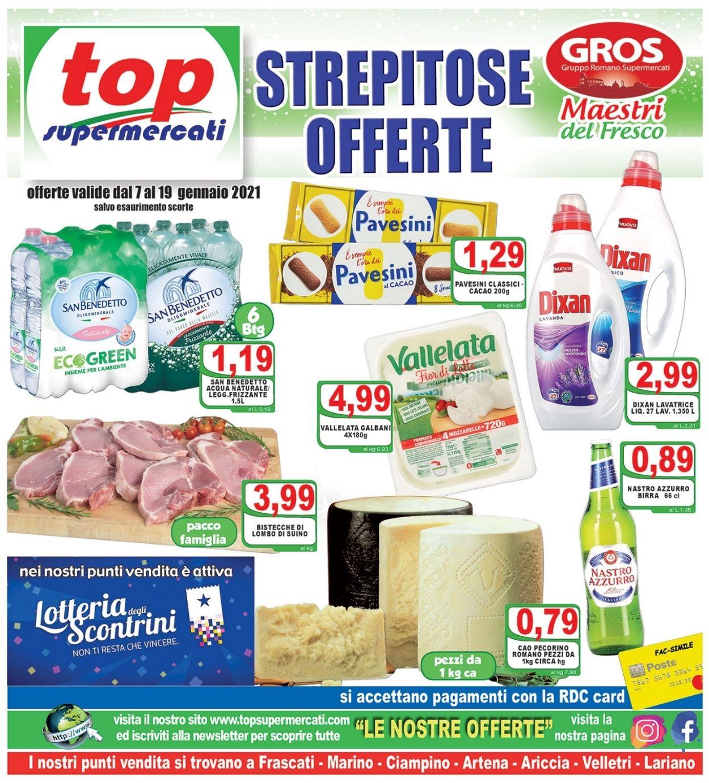 Volantino Top Supermercati - Offerte 07/01-19/01/2021