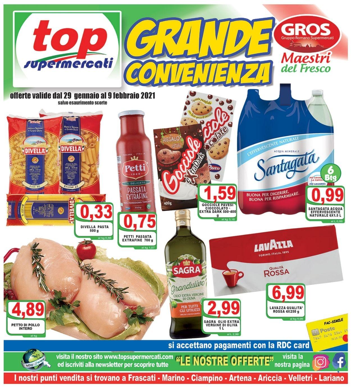 Volantino Top Supermercati - Offerte 29/01-09/02/2021