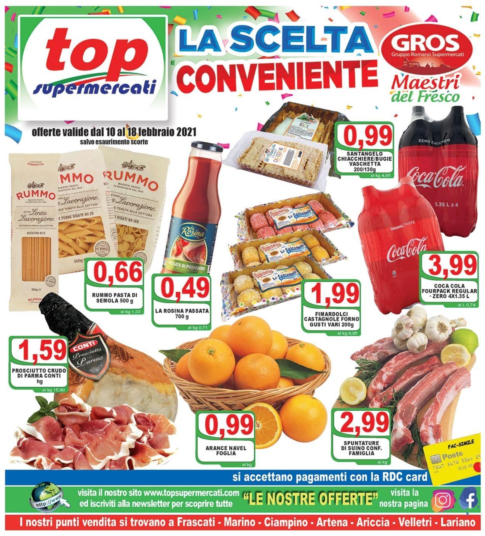 Volantino Top Supermercati - Offerte 10/02-18/02/2021