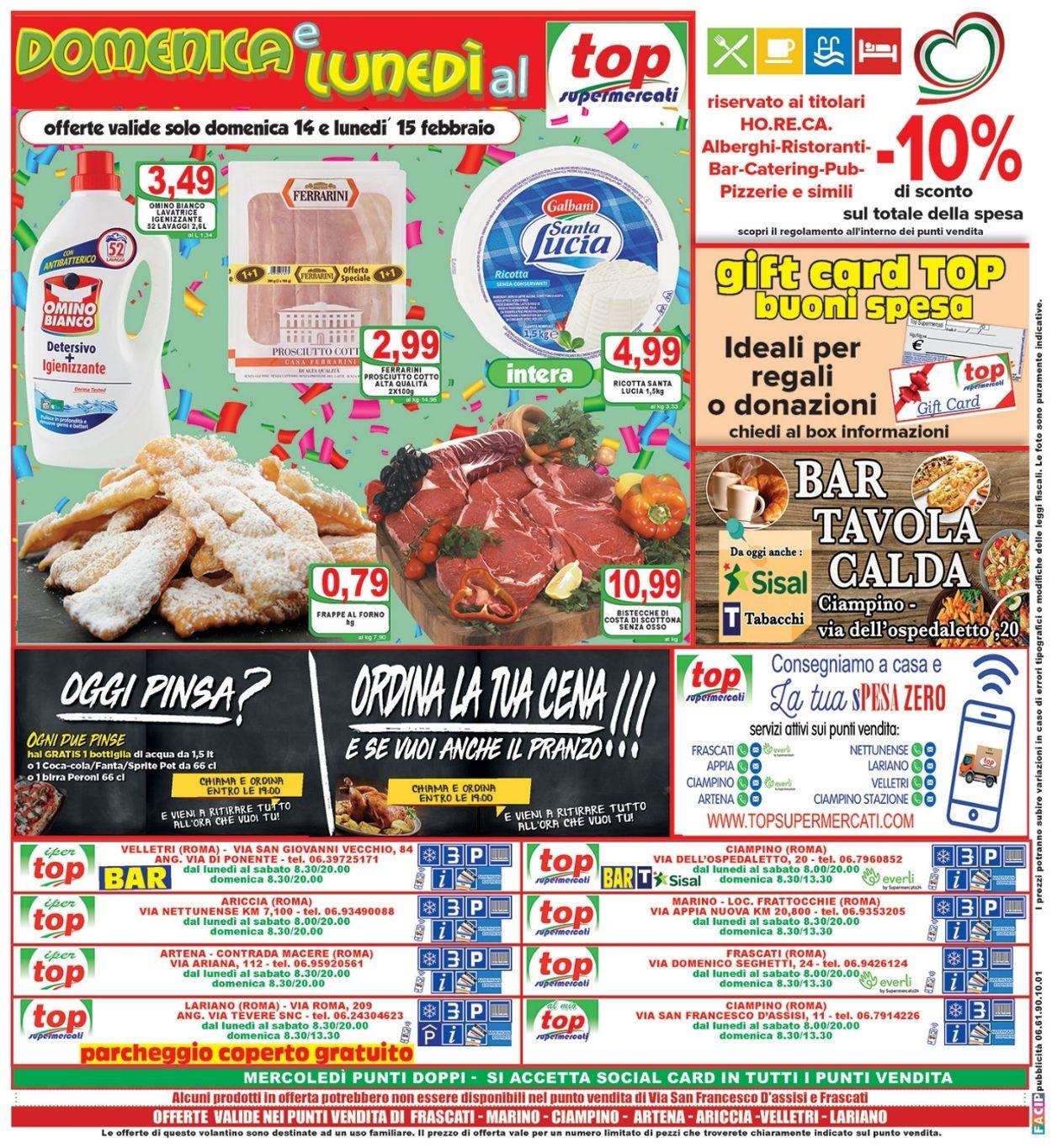 Volantino Top Supermercati - Offerte 10/02-18/02/2021 (Pagina 16)