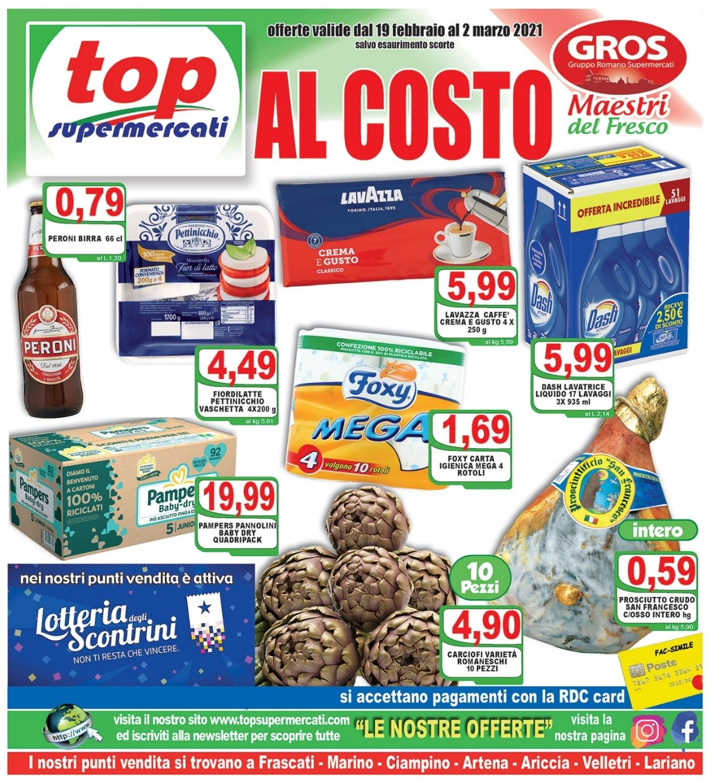 Volantino Top Supermercati - Offerte 19/02-02/03/2021