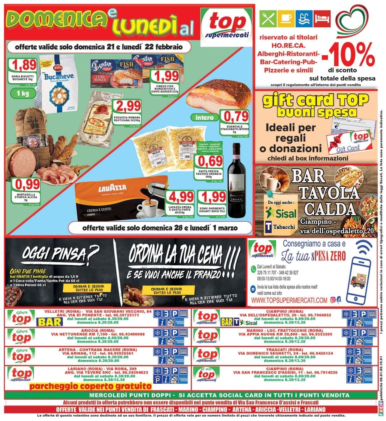 Volantino Top Supermercati - Offerte 19/02-02/03/2021 (Pagina 16)