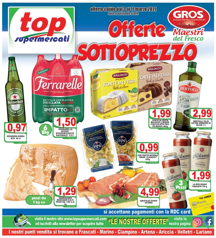Volantino Top Supermercati - Offerte 03/03-11/03/2021