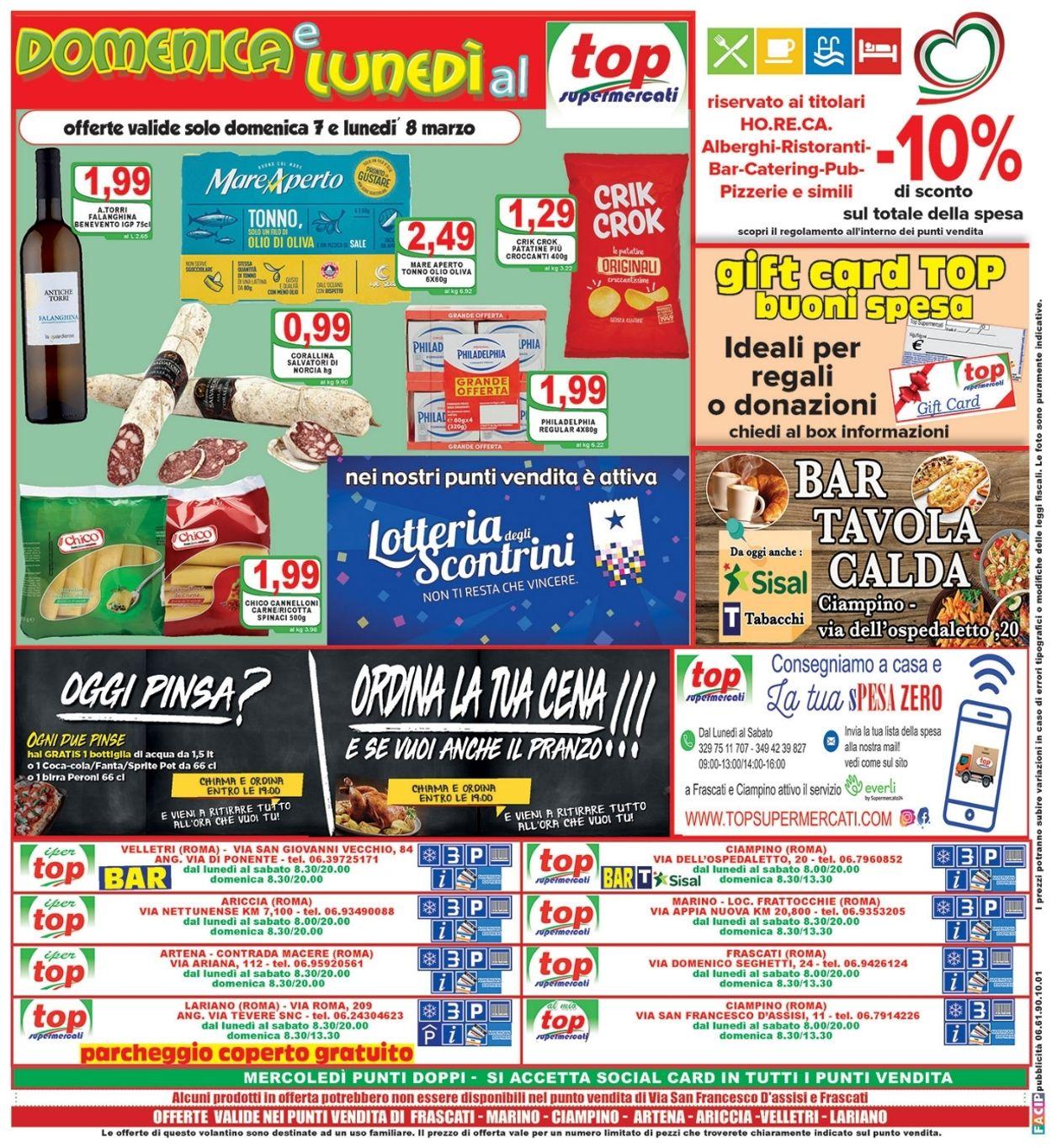 Volantino Top Supermercati - Offerte 03/03-11/03/2021 (Pagina 20)