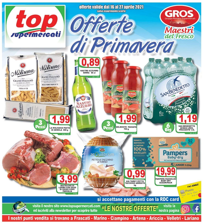 Volantino Top Supermercati - Offerte 16/04-27/04/2021