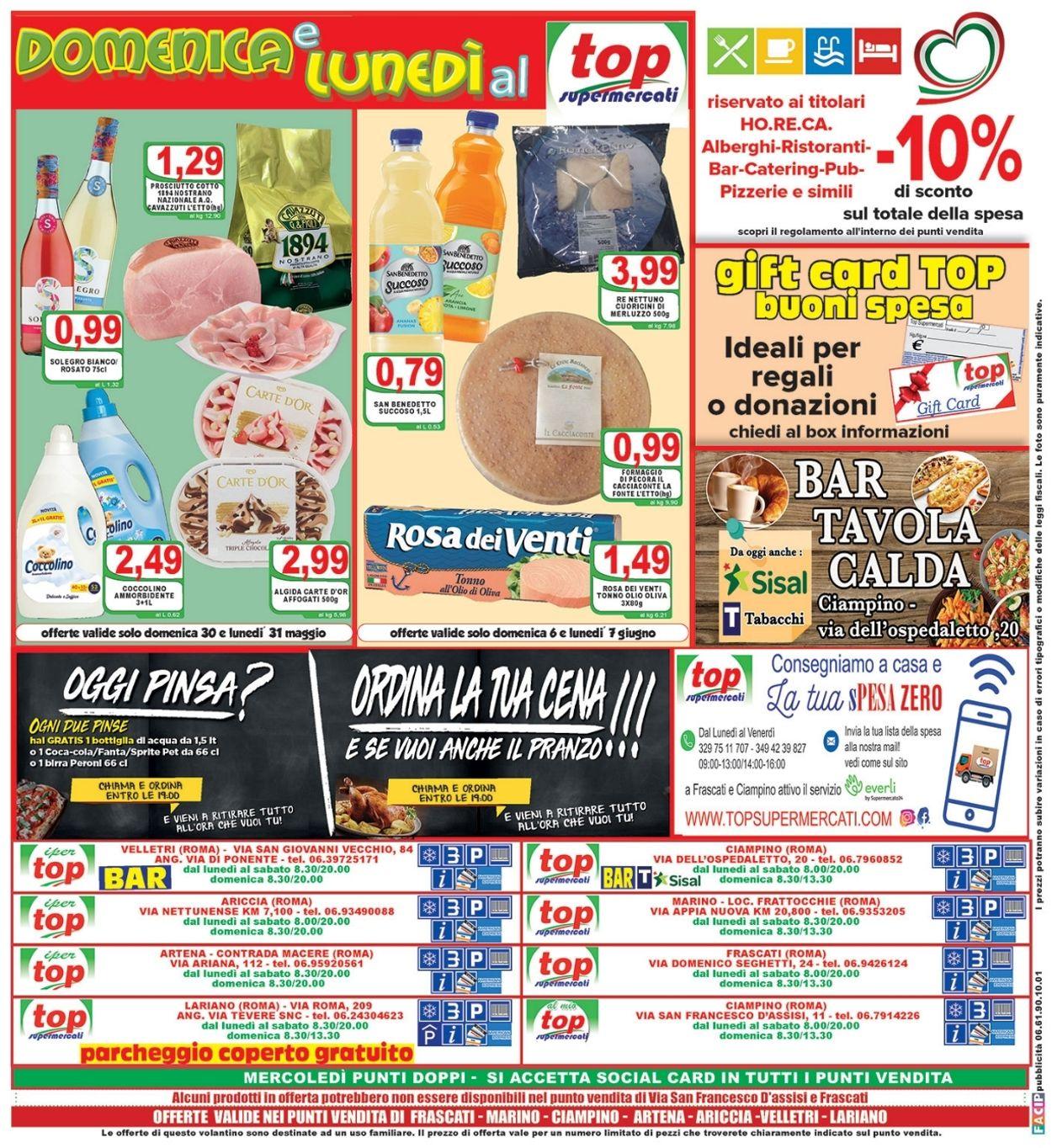 Volantino Top Supermercati - Offerte 28/05-08/06/2021 (Pagina 20)