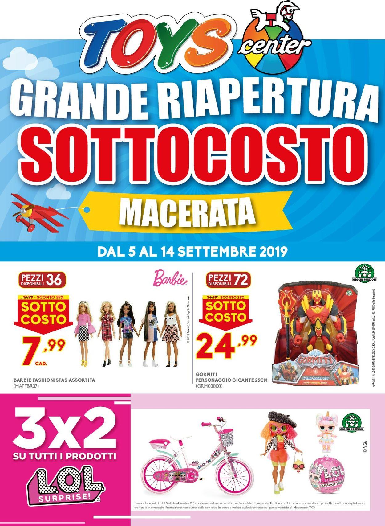 Volantino Toys Center - Offerte 05/09-14/09/2019