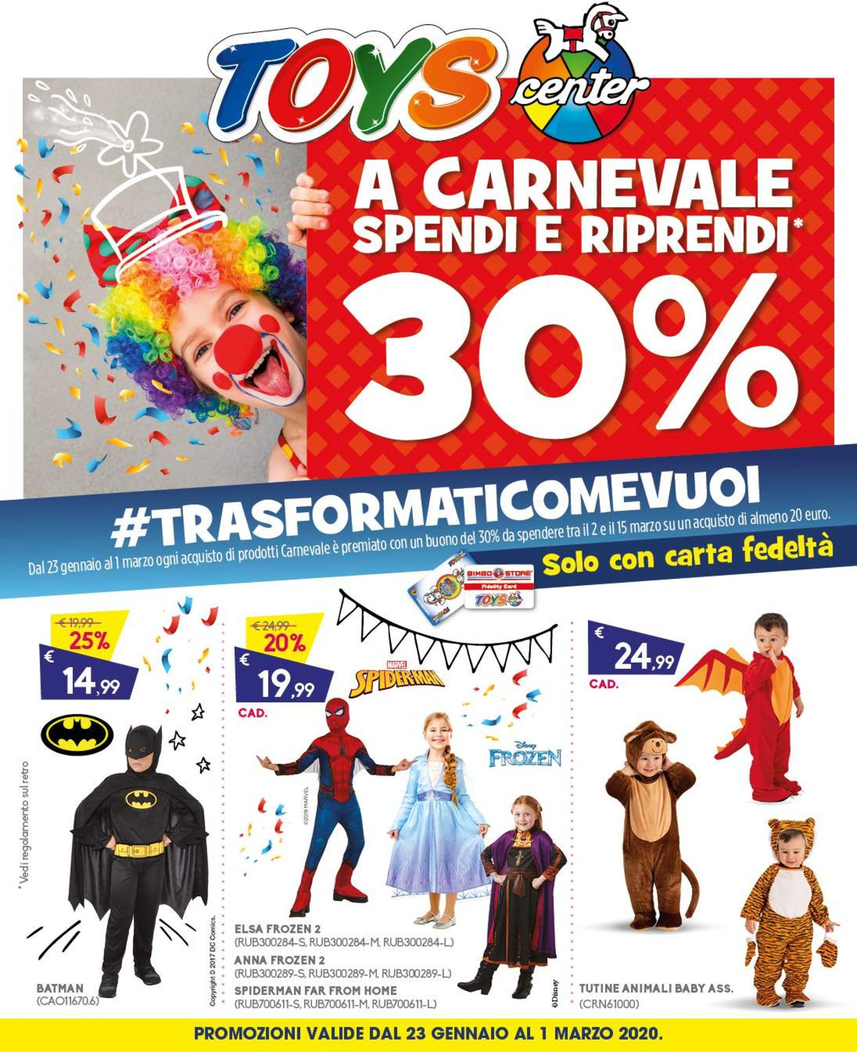 Volantino Toys Center - Offerte 23/01-01/03/2020