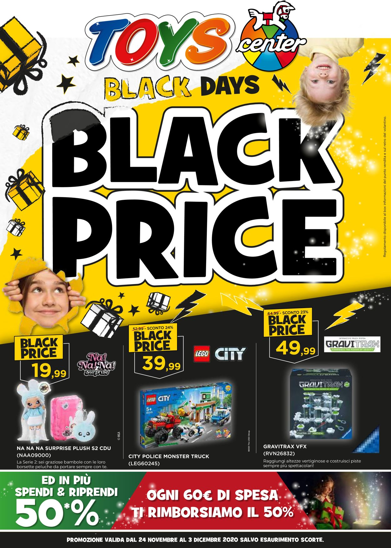 Volantino Toys Center - Black Friday 2020 - Offerte 24/11-03/12/2020