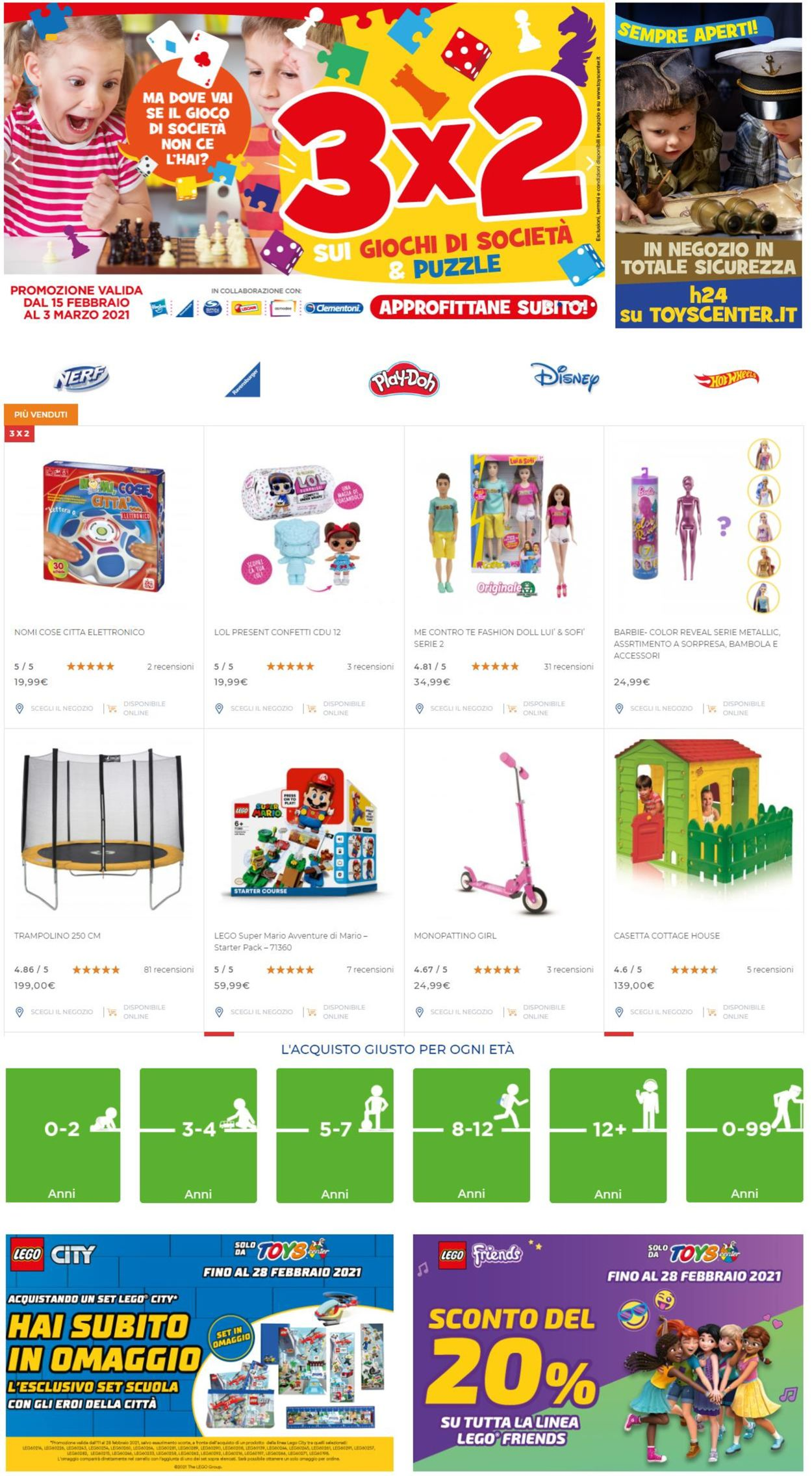 Volantino Toys Center - Offerte 22/02-03/03/2021
