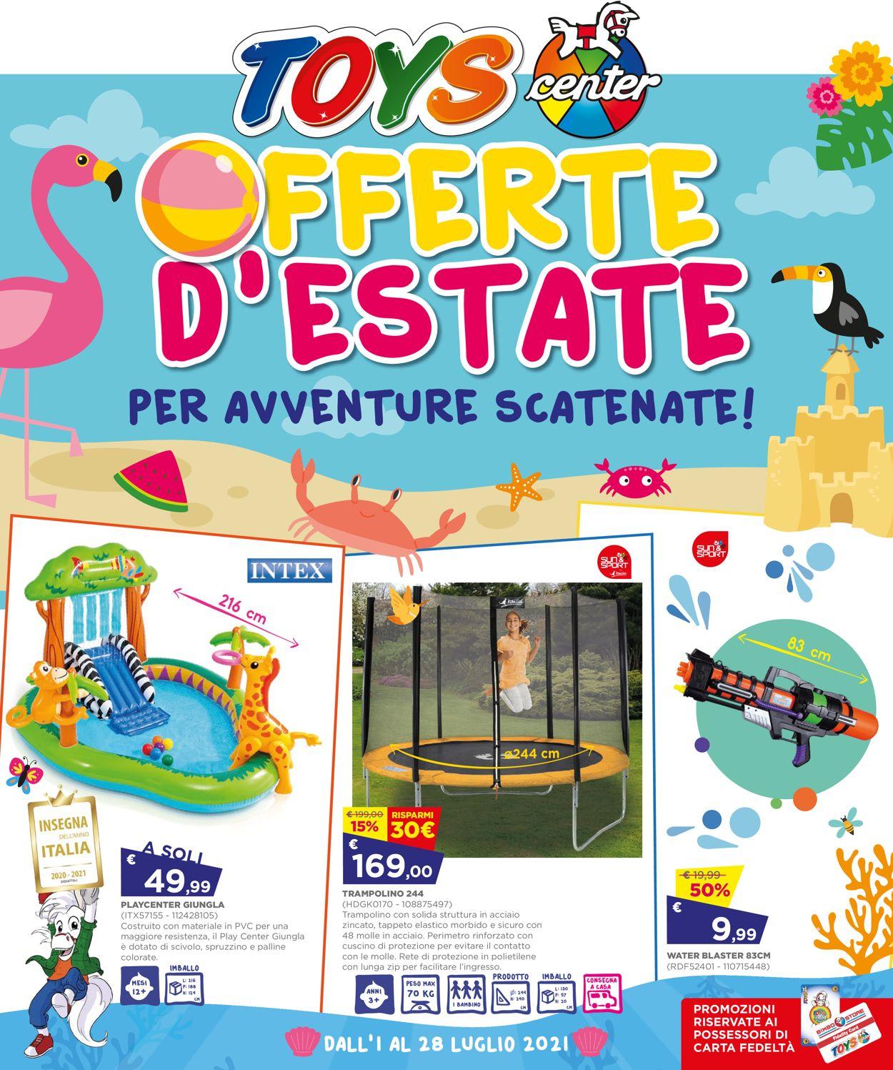 Volantino Toys Center - Offerte 01/07-28/07/2021