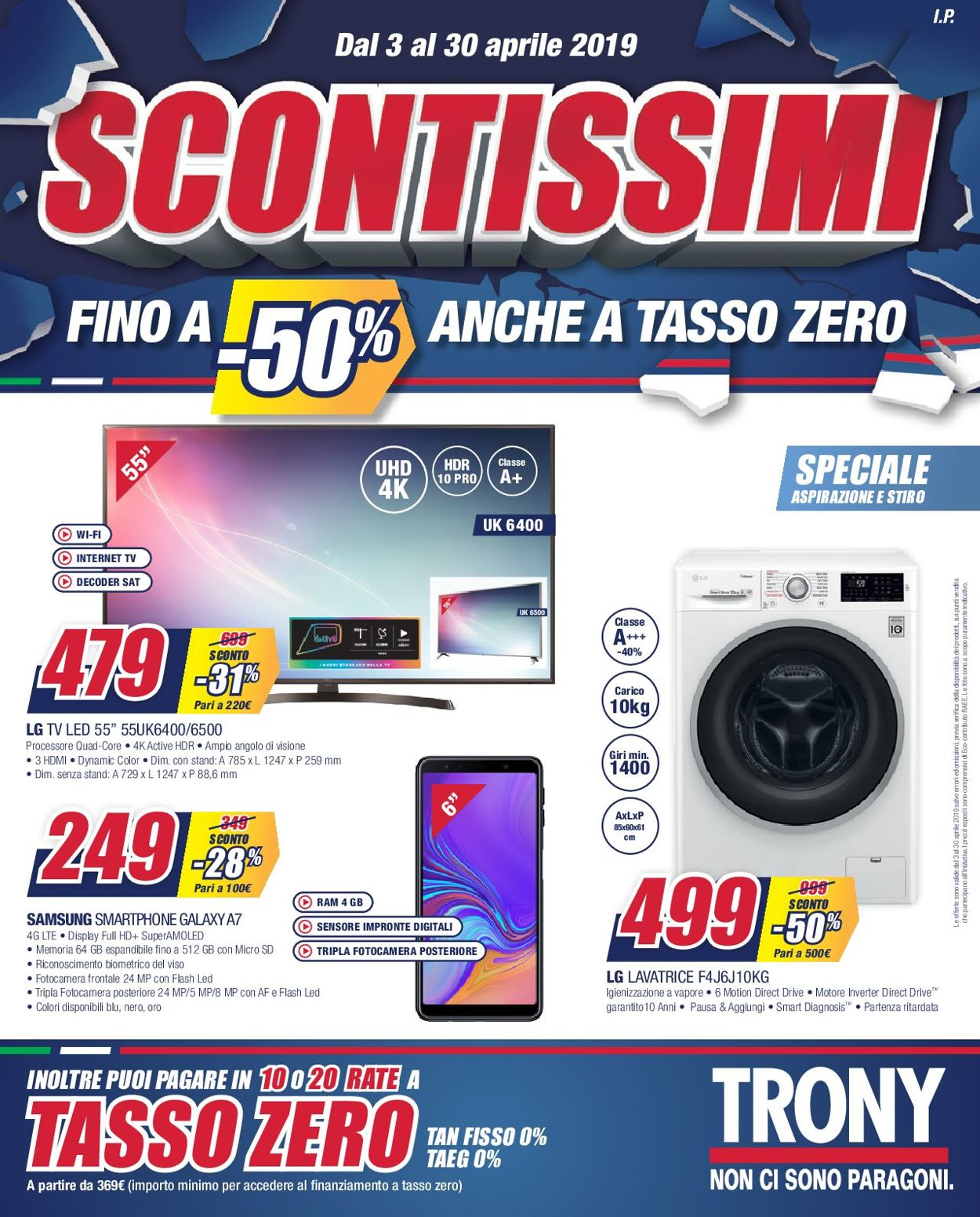 Volantino Trony - Offerte 03/04-30/04/2019