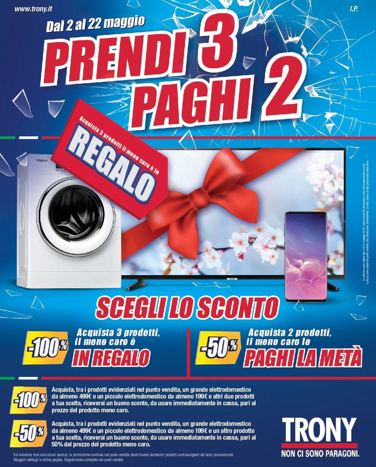 Volantino Trony - Offerte 02/05-22/05/2019