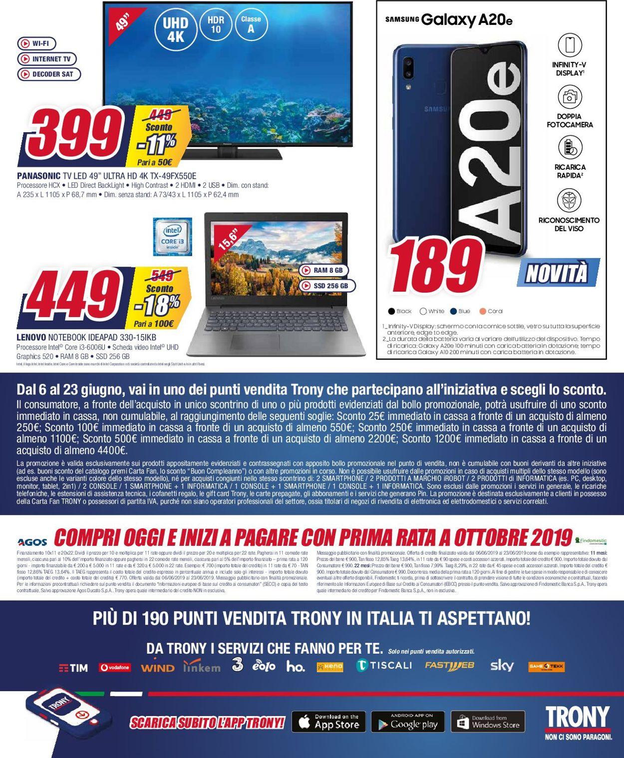 Volantino Trony - Offerte 06/06-23/06/2019 (Pagina 16)