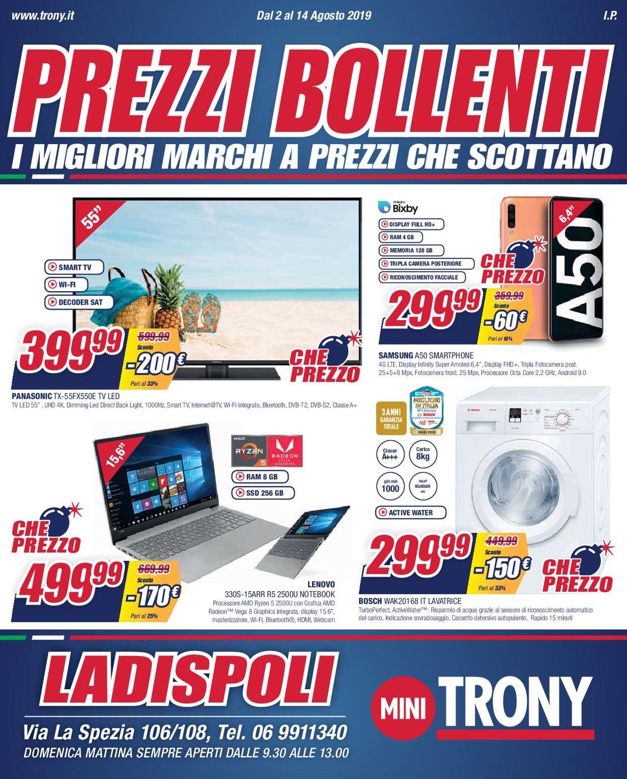 Volantino Trony - Offerte 02/08-14/08/2019