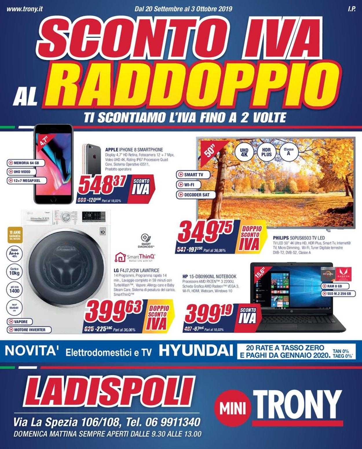 Volantino Trony - Offerte 20/09-03/10/2019
