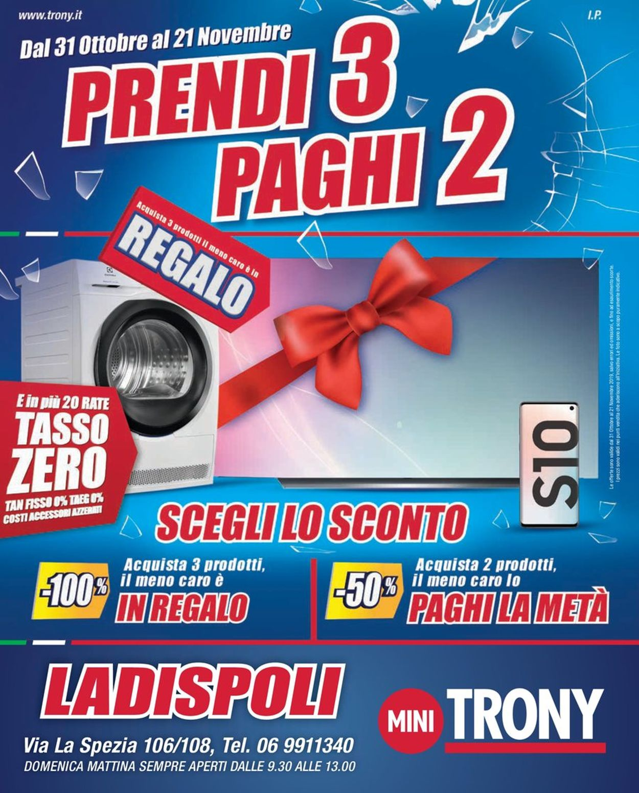 Volantino Trony - Offerte 31/10-21/11/2019