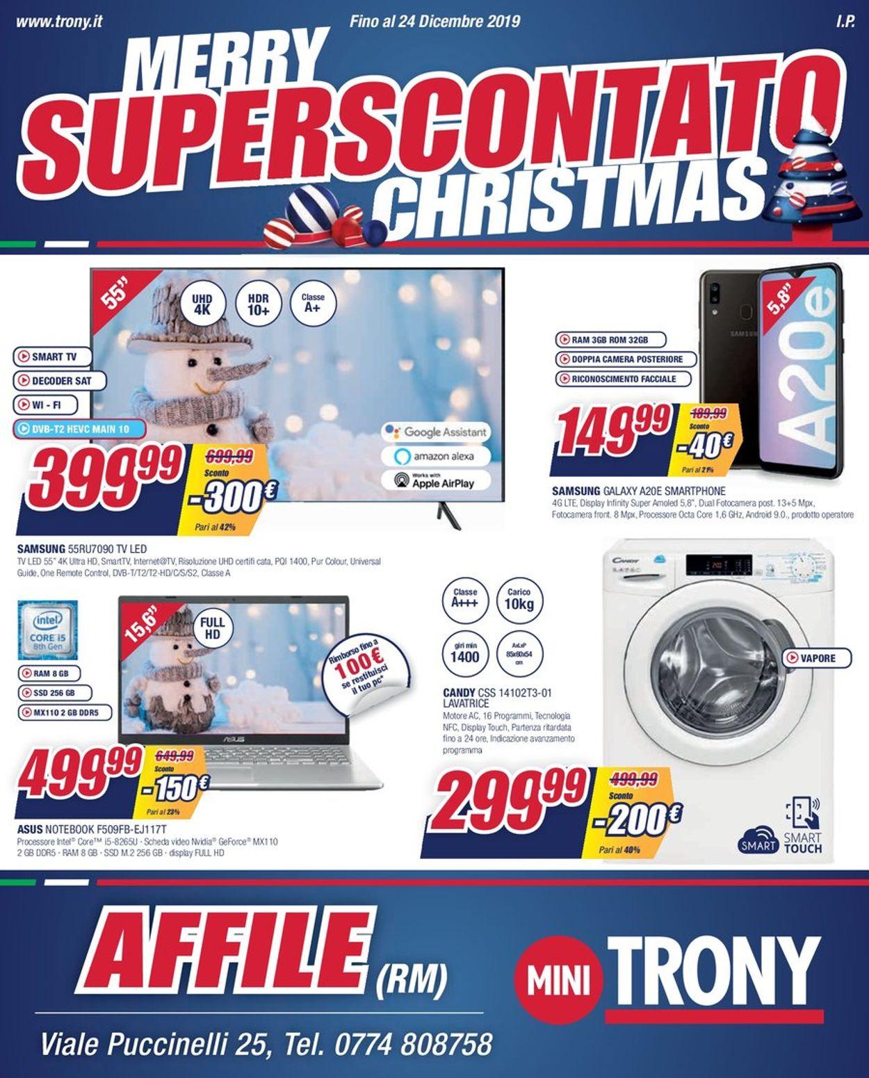 Volantino Il volantino natalizio di Trony - Offerte 17/12-24/12/2019