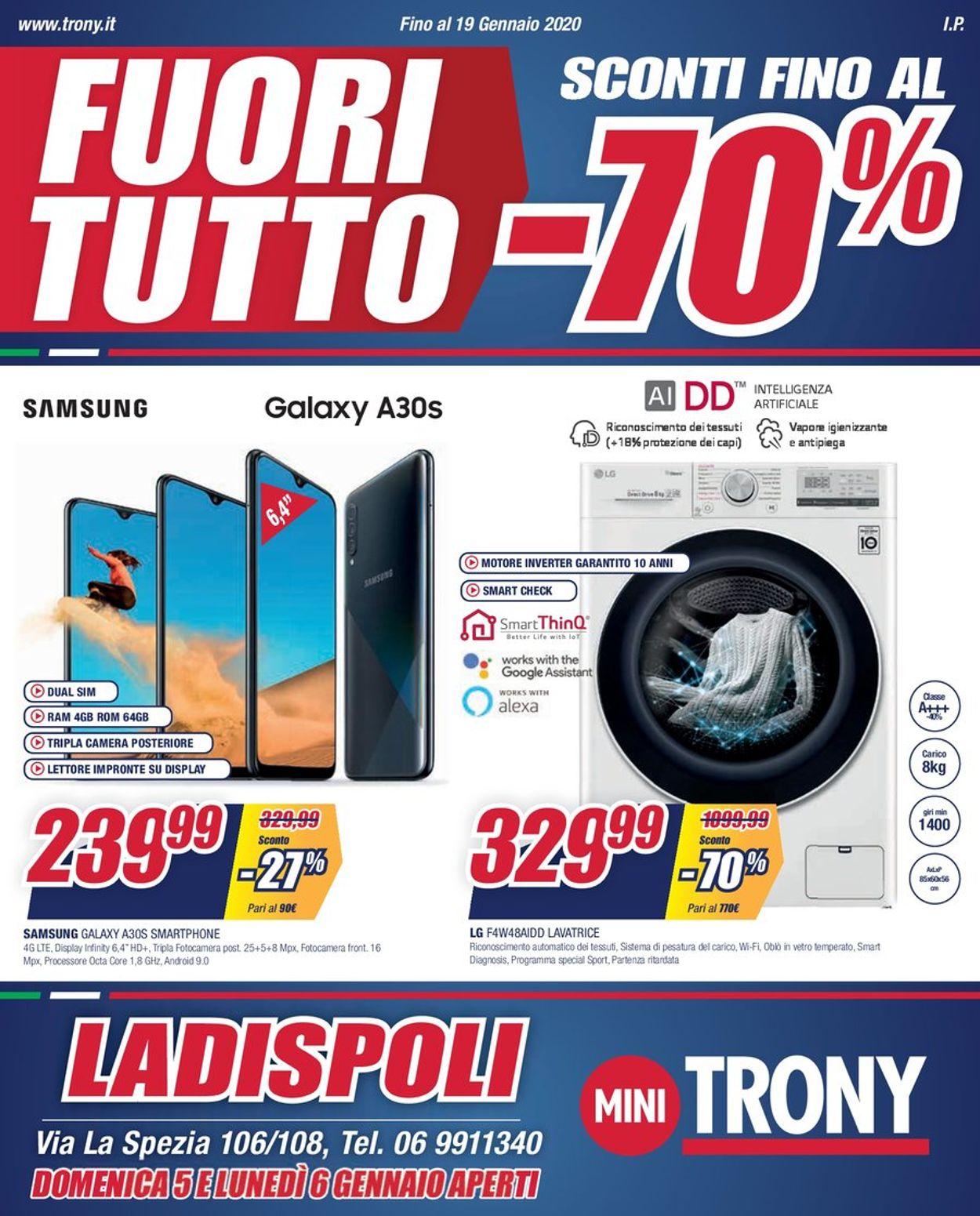 Volantino Trony - Offerte 27/12-19/01/2020