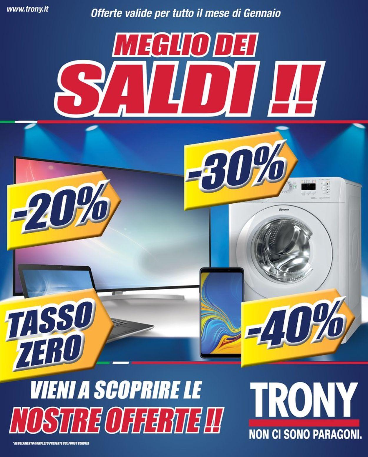 Volantino Trony - Offerte 13/01-31/01/2020