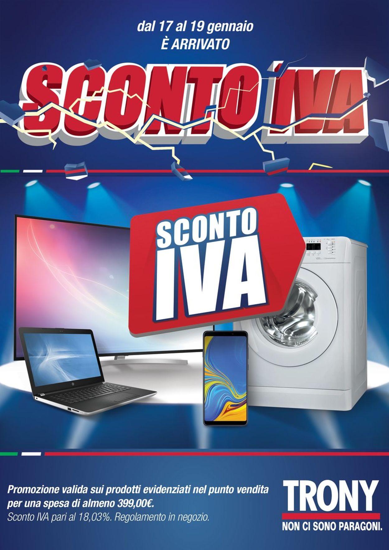 Volantino Trony - Offerte 17/01-19/01/2020