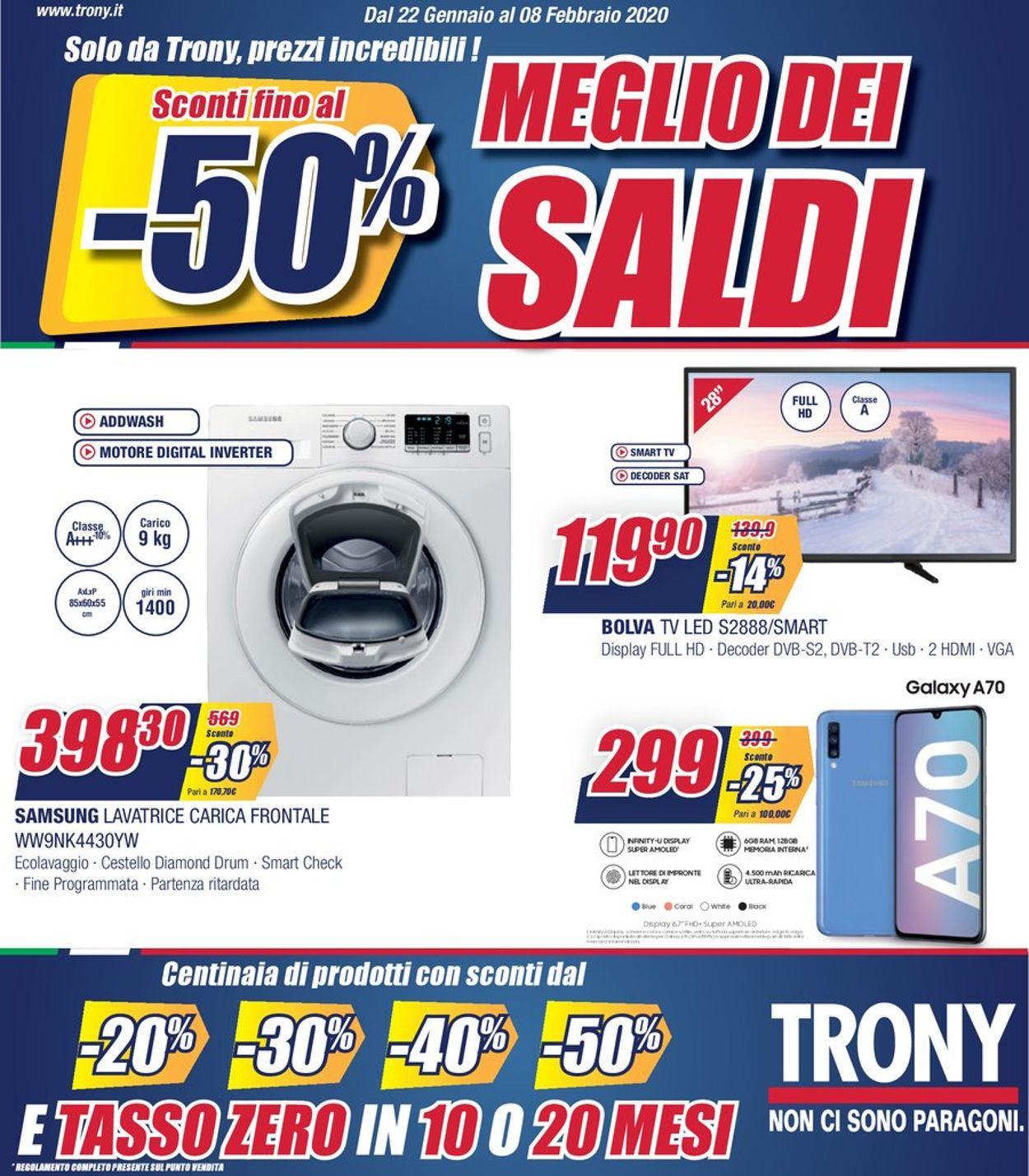 Volantino Trony - Offerte 22/01-08/02/2020