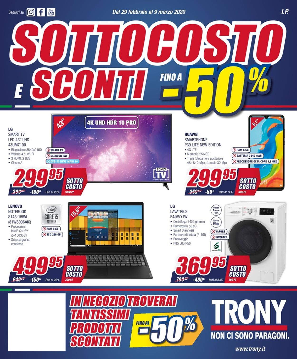 Volantino Trony - Offerte 29/02-09/03/2020