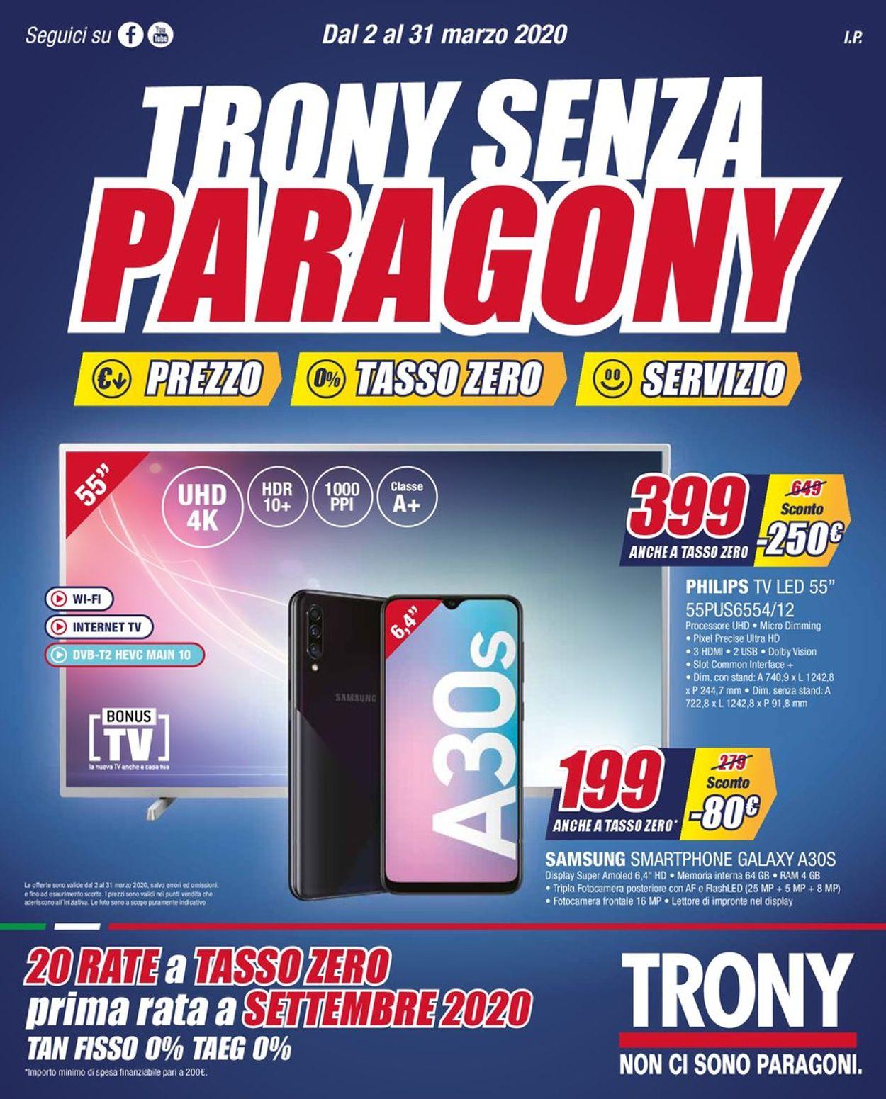 Volantino Trony - Offerte 02/03-31/03/2020