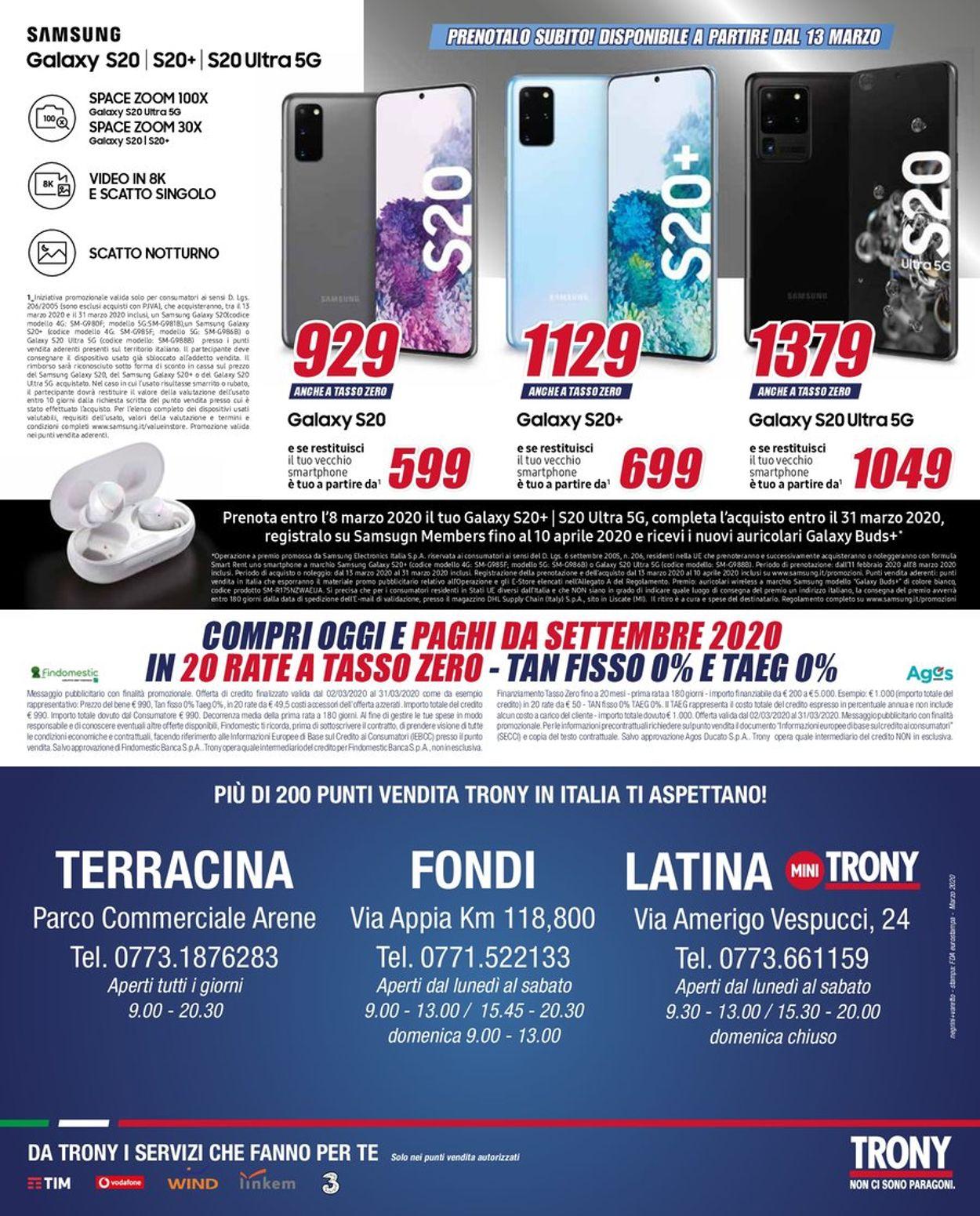 Volantino Trony - Offerte 02/03-31/03/2020 (Pagina 16)