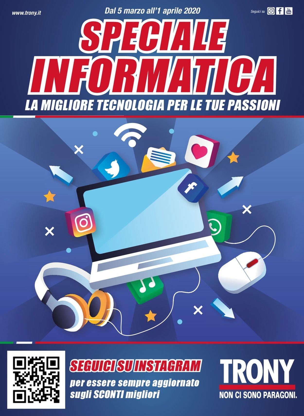 Volantino Trony - Offerte 05/03-01/04/2020